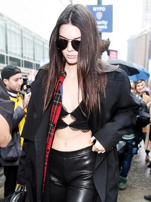 Kendall Jenner Just Wore a Lace Bralette Out in NYC