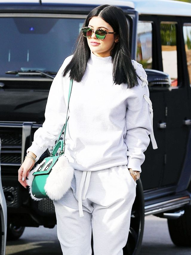 Kylie Jenneru0026#39;s Trick to Make Sweatpants Look Expensive | WhoWhatWear