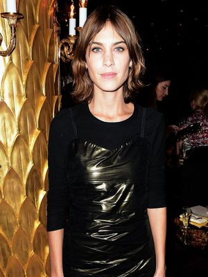 How Alexa Chung Pulled Off a Minidress and Fishnets Like a Pro