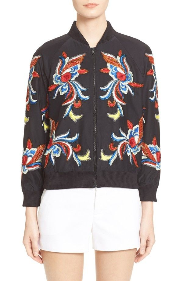 Olivia Palermo's Perfect Topshop Bomber Jacket Is Already Sold Out ...