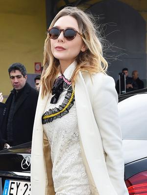 Elizabeth Olsen's Amazing Gucci Platforms Belong at Studio 54