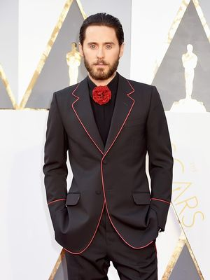 Jared Leto Brought the Designer of His Gucci Suit to the Oscars
