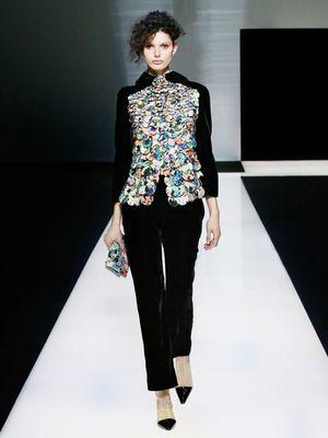 Giorgio Armani Proves That the Velvet Trend Isn't Going Anywhere