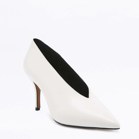 Kylie White Court Shoes