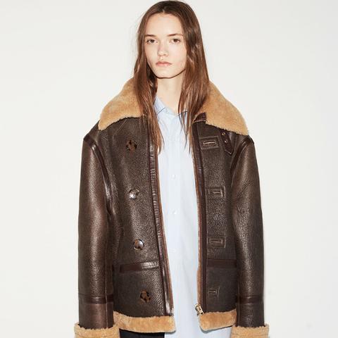 Oversized Shearling Jacket