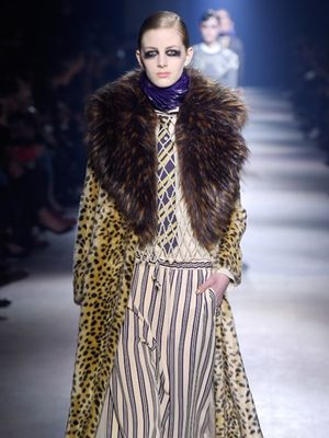 This Is the New Skinny Scarf, According to Dries Van Noten