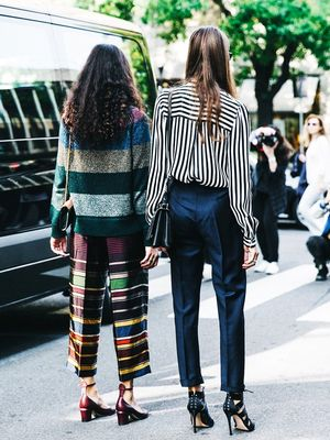 2 Takes on Spring Stripes From the Streets of Milan