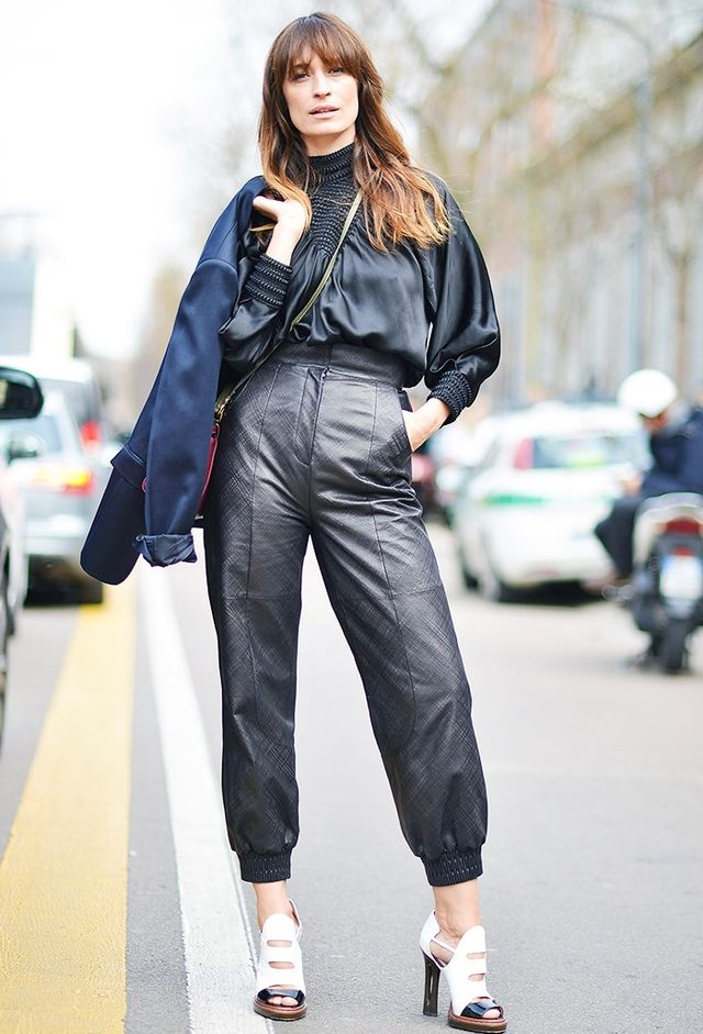 Who: Caroline de Maigret What: Model, muse, musician, generally cool human being Wear: Caroline wears the hell outta trousers. She's often snapped in a tailored suit, but these Fendi leather...