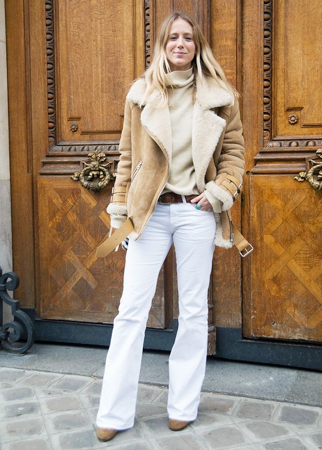 Who: Jennifer Neyt What: Editor in chief ofVogue.fr Wear: She's a denim addict by the looks of things and has persuaded us into wearing white jeans again. With heels and a demi-tuck of a...