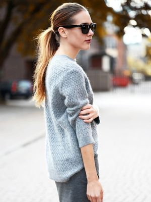 A Stylish Gray-on-Gray Look for Work and Beyond