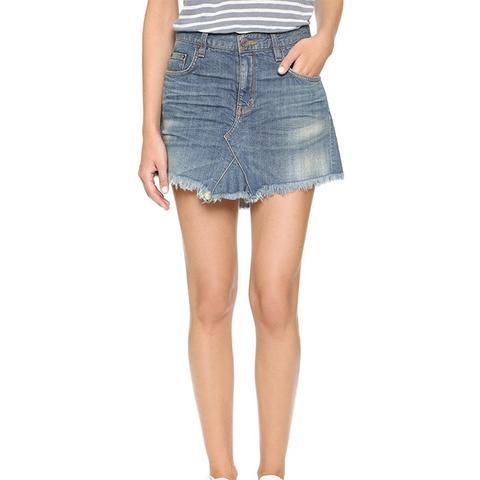 Selvedge Miniskirt