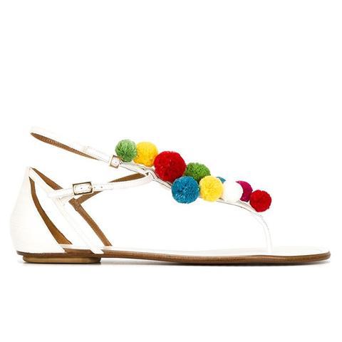 Pon Pon Flat Sandals