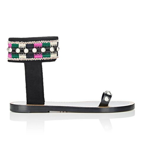 Embellished Joya Ankle-Cuff Sandals