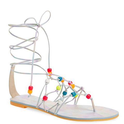 Laetitia Beaded Lace-Up Sandal