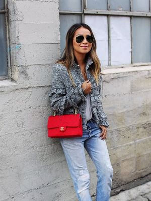 3 Cool Ways to Wear a Chanel Jacket and Jeans