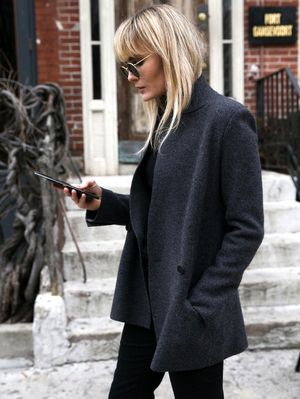 A Minimalist Cool Way to Wear Black Flares