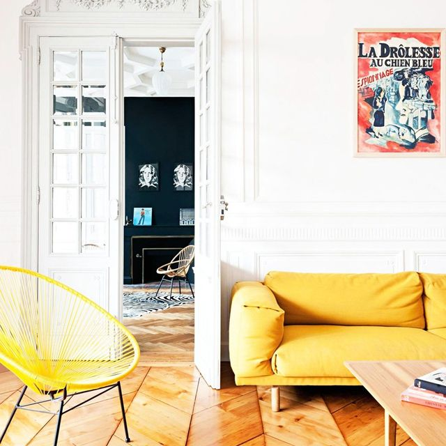 A French Home With Pops of Colour