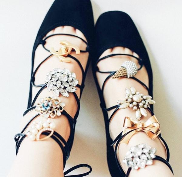 1. Embellish Lace-Up Shoes