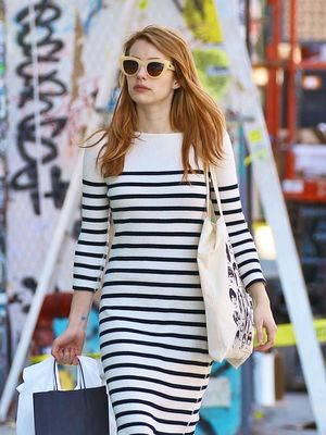 Emma Roberts's Maxi Dress Trick Is Perfect for Short Girls