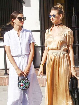 Lily Aldridge and Behati Prinsloo Just Twinned In Coordinated Outfits