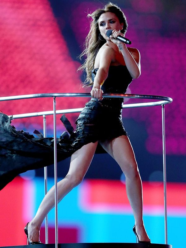 Victoria Beckham in Giles at the Olympic Games Closing Ceremony, August 2012