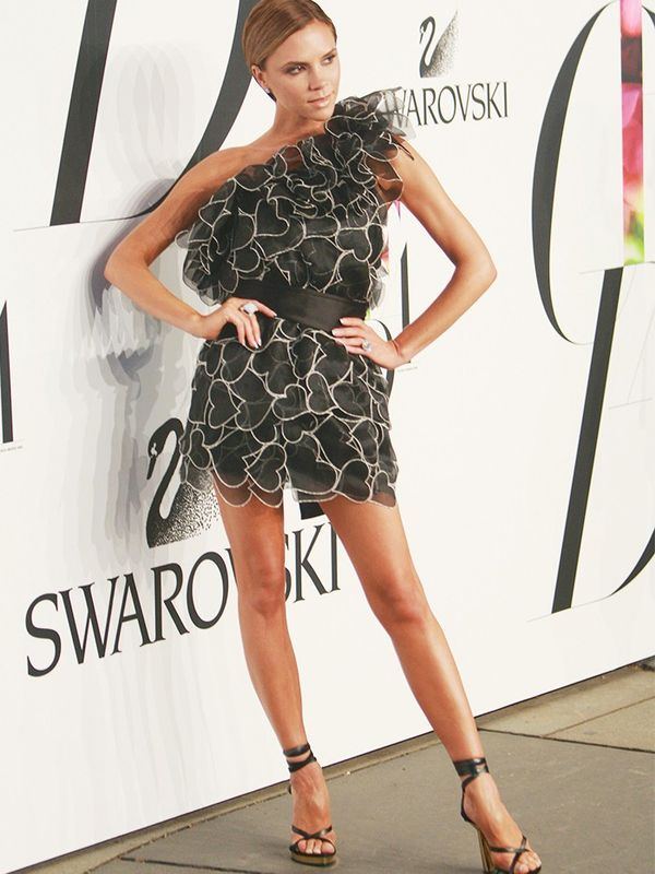 Victoria Beckham in Marc Jacobs at the CFDA Awards, June 2008