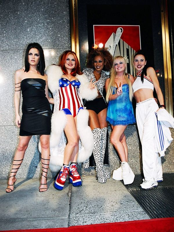 Victoria Beckham with the Spice Girls at the MTV Movie Awards, September 1997