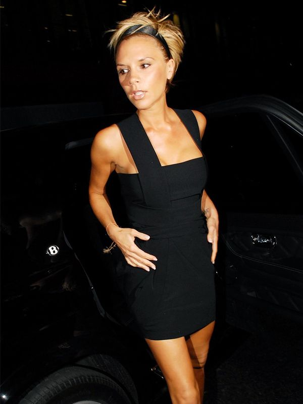 Victoria Beckham at David Beckham's 32nd birthday party in London, May 2007