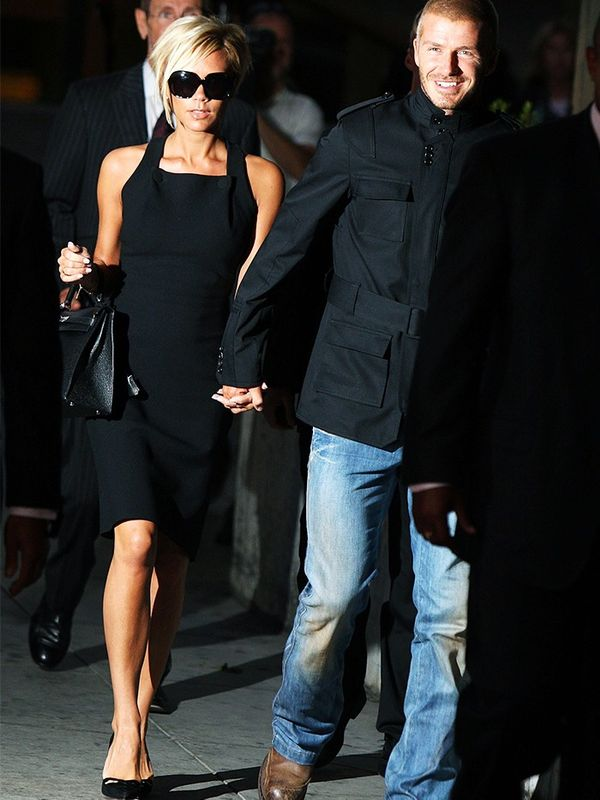 Victoria and David Beckham arriving at LAX Airport, July 2007