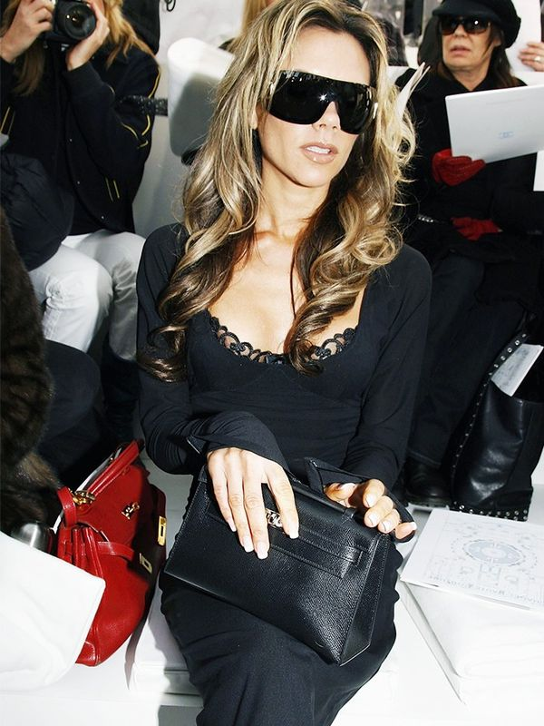 Victoria Beckham at the Chanel show at Paris Fashion Week, January 2006