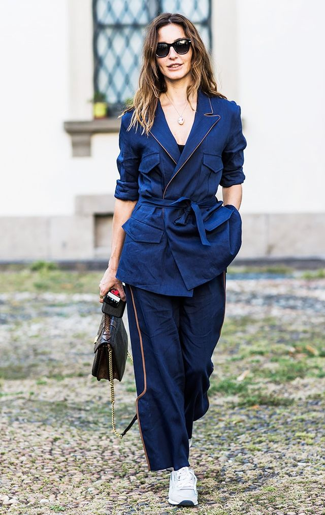 8 Work Outfits You Can Wear With Sneakers Whowhatwear