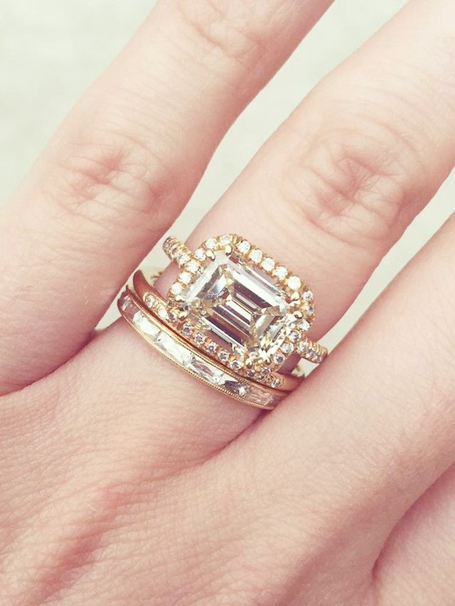 20 Real Girls With Gorgeous Wedding Band–and–Engagement Ring bos