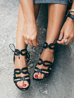 #TuesdayShoesday: 7 Stylish Black Sandals Under $100