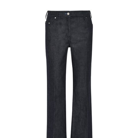 Cropped Mid-Rise Flare Jeans