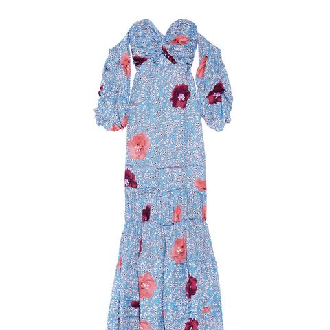 Dama De Las Camelias Floral-Print Silk-Georgette Maxi Dress