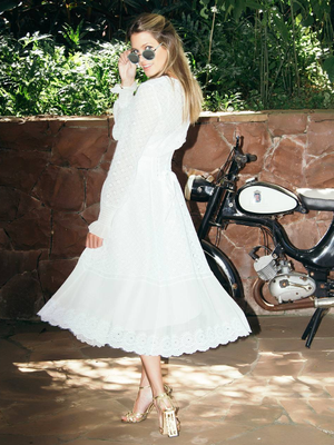 This Street Style Star Had the Most Dramatic Wedding Veil