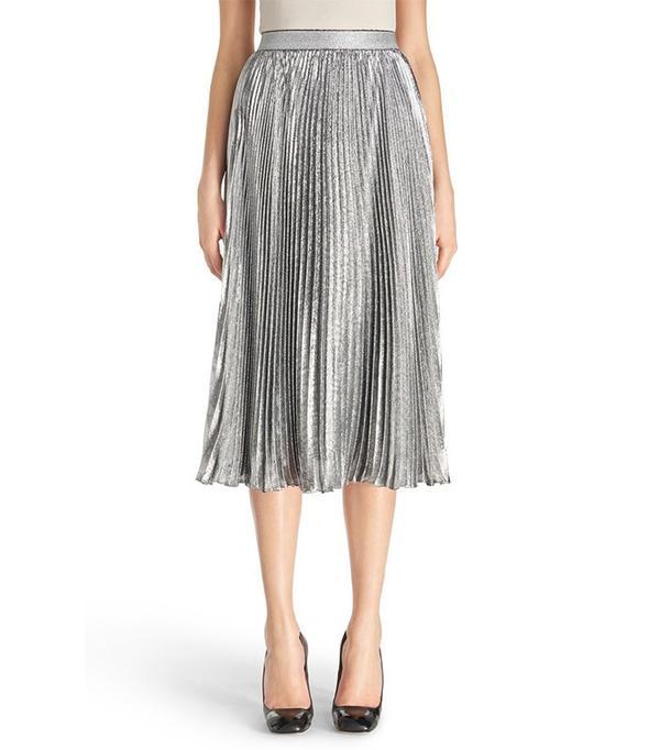 7 reasons you need a metallic midi skirt whowhatwear