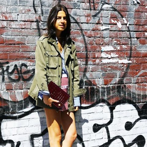 best designer bags 2016: Leandra Medine with the Mulberry Clifton