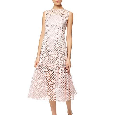 Blush Pink Laser-Cut Dress