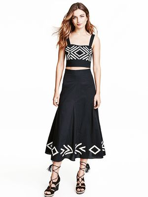Love, Want, Need: H&M's Patterned Midi Skirt