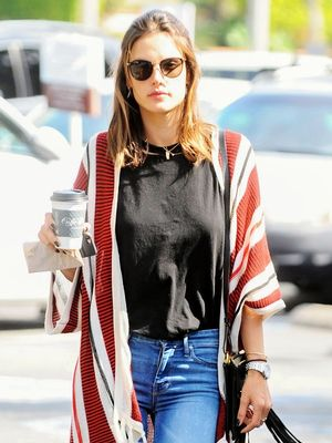 Where to Buy Alessandra Ambrosio's Under-$100 Striped Cardigan