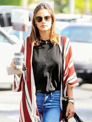 Where to Buy Alessandra Ambrosio's Under-$100 Striped Cardigan