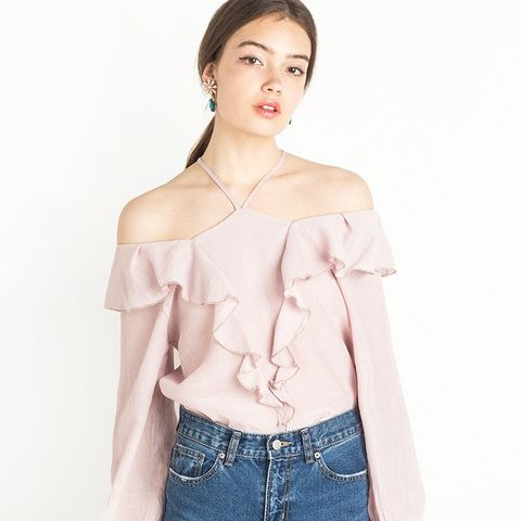 Ruffled Pale Pink Top