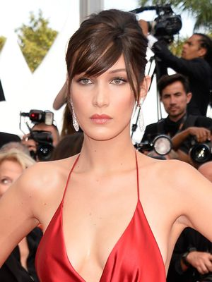 Bella Hadid Pulled Off an Angelina Jolie–Style Slit at Cannes