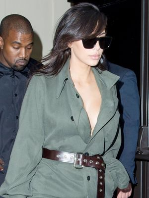Kim Kardashian Tries One of Kate Moss's Favorite Trends