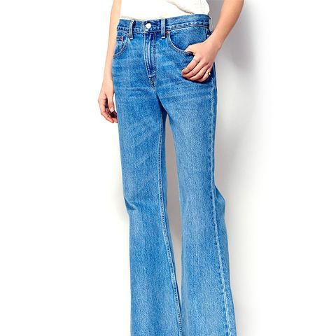 Fall Mist Slouchy Flare Jeans