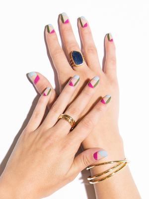 The Bright Geometric Manicure You'll Wear All Summer Long