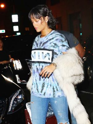 Rihanna Wore a Tie-Dye T-Shirt Out to a Club in NYC