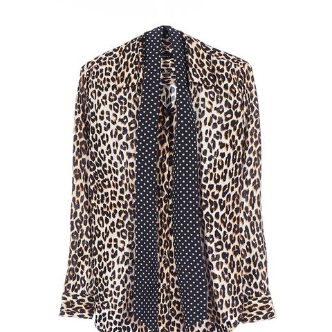 Slim Signature Leopard-Print Shirt