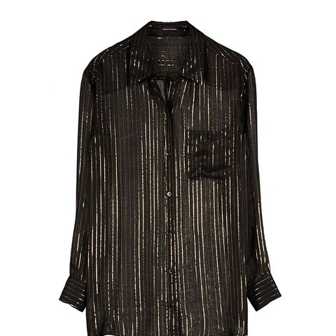 Daddy Metallic Stripe Shirt
